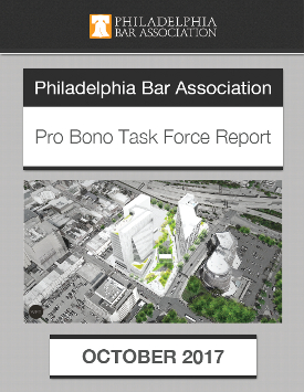 Philadelphia Bar Association Pro Bono Task Force Report cover
