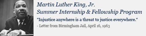 Martin Luther King, Jr. Summer Internship and Fellowship Program logo