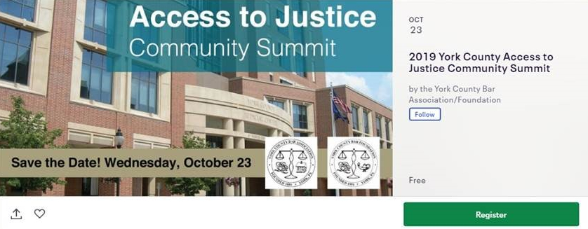 Access to Justice Community Summit - Save the Date: Oct. 23