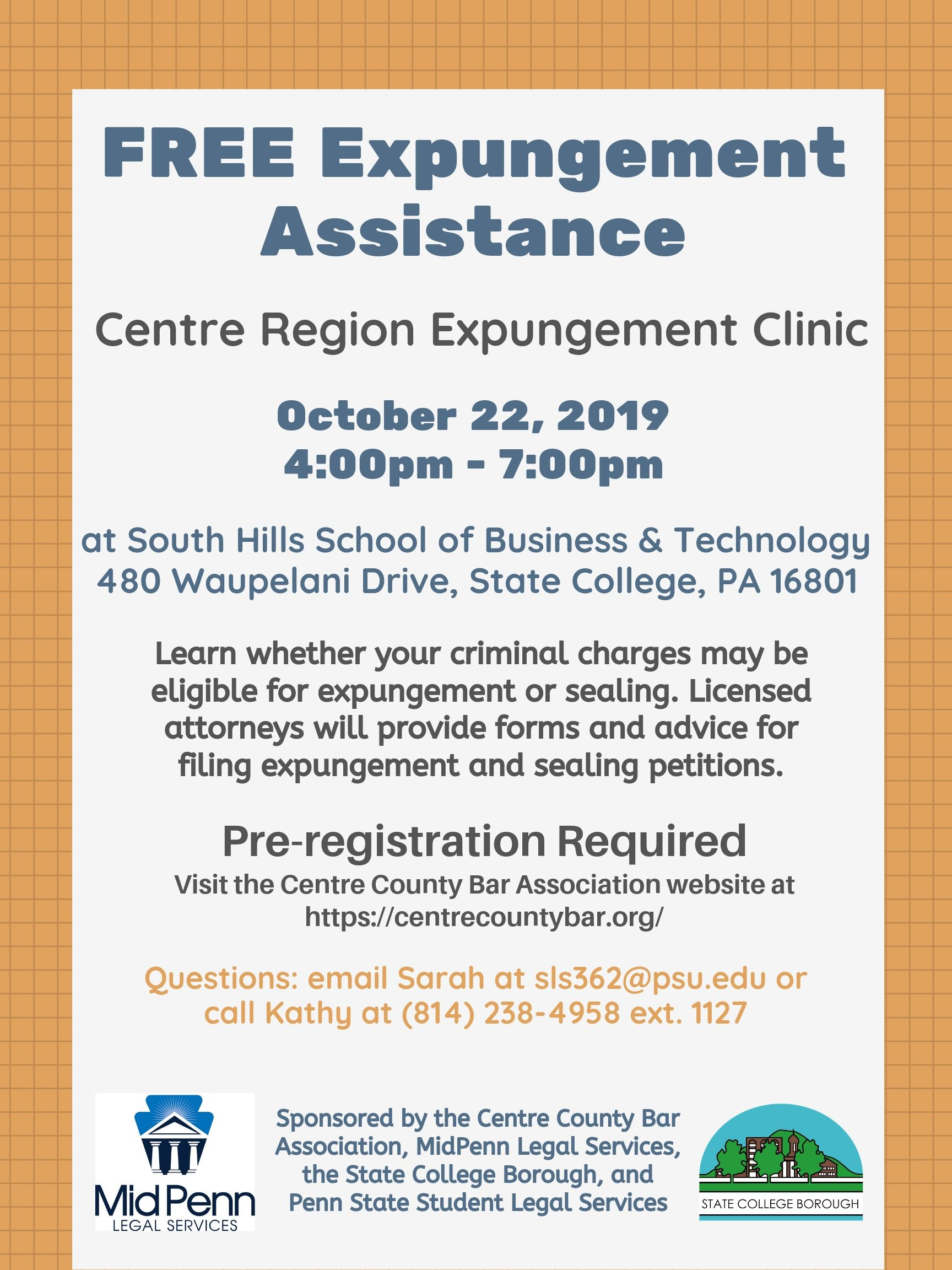 Expungement Clinic Flyer